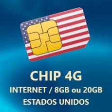 Chip Internet 4G/Lte Limitado Estados Unidos - AT&T